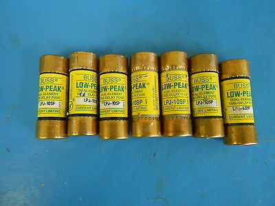 Buss Low-Peak Dual-Element Time Delay Fuse LPJ-10SP , lot of 7