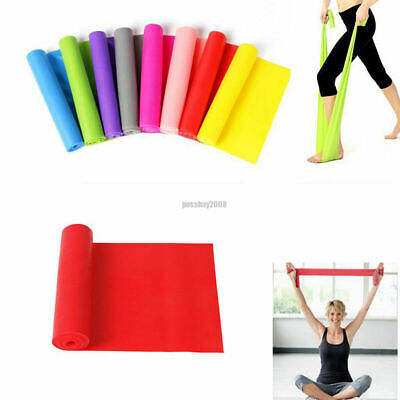 2m Long Elastic Yoga Pilates Band Stretch Resistance Exercise Fitness Belt Strap