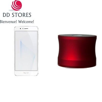 Pack Honor 8 smartphone débloqué 4G blanc + Muvit MINI speaker bluetooth rouge