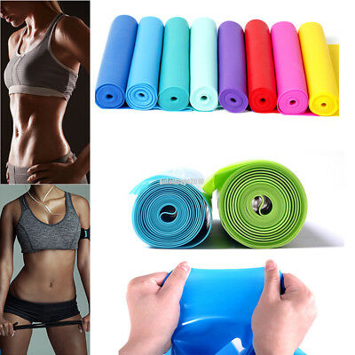 1X 1.5m Yoga Pilates Elastic Stretch Resistance Loop Band Exercise Fitness Belt