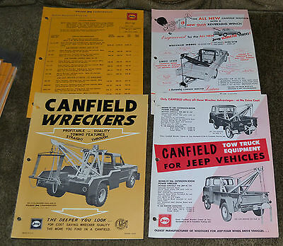 VTG 1963 Advertising Special Equipment Price List Jeep Canfield Wreckers N