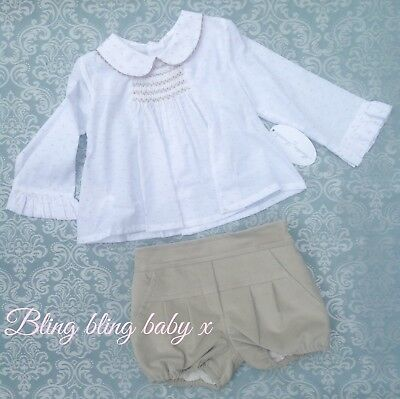 Baby Boys Spanish 2 Piece Set Outfit Shorts Shirt Martin Aranda 9-12 Months