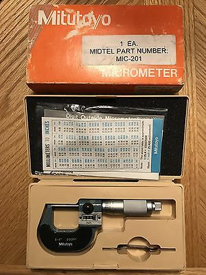 """Mitutoyo 193-211 Digit Outside Micrometer 0-1"""" .0001"""" Increments"""