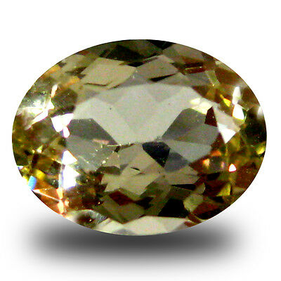 1.54 ct AAA Topnotch Oval Shape (9 x 7 mm) Yellow Heliodor Beryl Gemstone
