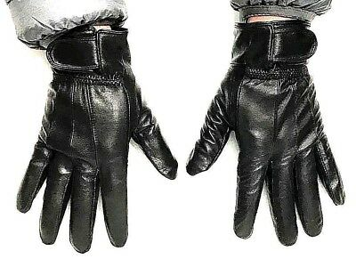 Ladies women Leather Gloves Premium Quality Genuine Soft  Fur Lined Driving Warm