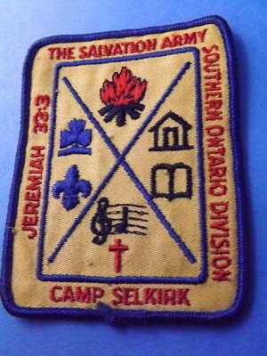 Salvation Army Camp Selkirk Patch Jeremiah 33 3 Ontario Division Vintage