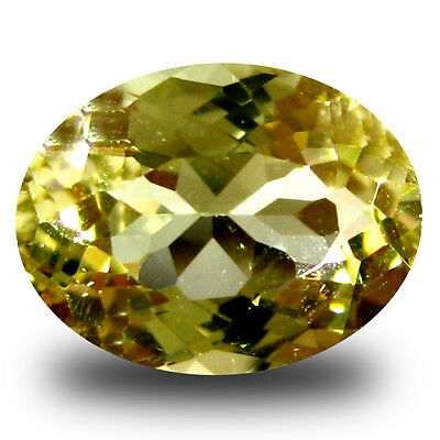 1.80 ct AAA Eye-catching Oval Shape (9 x 7 mm) Yellow Heliodor Beryl Gemstone