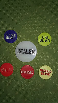 3 sets of Texas Hold'em Dealer Button Set - US Seller