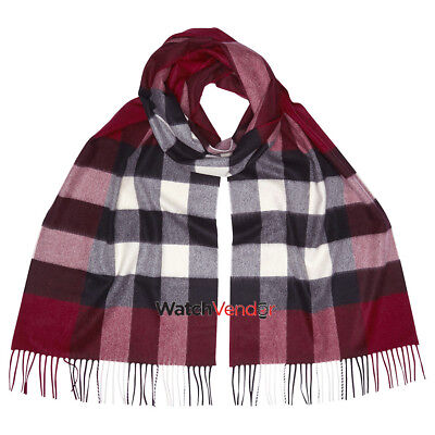Burberry The Large Classic Cashmere Scarf in Check - Plum Check