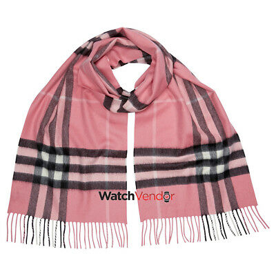 The Classic Cashmere Scarf in Check - Rose Pink
