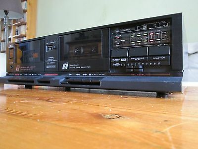 very cool AKAI cassette tapedeck HX-A351W double high speed dub Dolby 220V/50hz