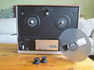 SONY STEREO TC-155 reel to reel tapedeck SERVICED 110-240V/50-60hz & SONY REEL