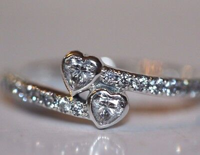 Genuine Silver S925 Love Forever Hearts Heart Ring Valentines Day Size Sale!