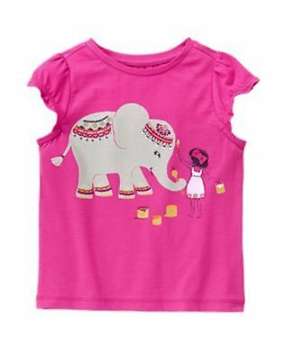 NWT Gymboree Girls Spice Market Elephant Top Pink Size 18-24mo 2T 3T Toddler