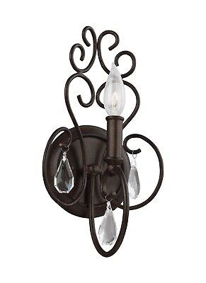 Feiss Angelette 1-Light Wall Sconce Bathroom Light Fixture, Bronze WB1778BNB