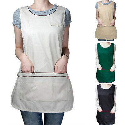 Work Tabard Kitchen Cafe Supermarket Staff Working Full Apron Sleeveless Overall