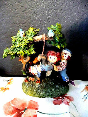 """Collectible,Raggedy Ann and Andy, Enesco,Figurine,1,158 of 8,500,5"""" W x 6""""T"""