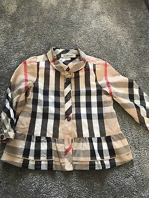 Girls Burberry Shirt 9 Months