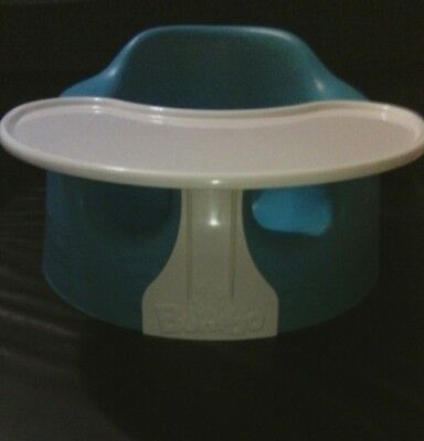 BUMBO BABY SITTER & FOOD TRAY High Chair with floor Seat BLUE AQUA