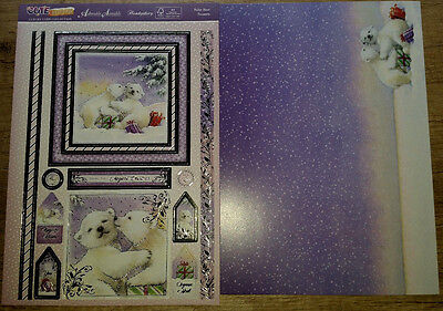 """Hunkydory * 1 Bogen Toppers + 1 Luxury Card """"Polar Bear Presents"""""""