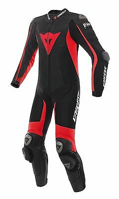 New Men Veloster 2017 Race One 1 Piece Leather Motorcycle Motorbike Suit Red