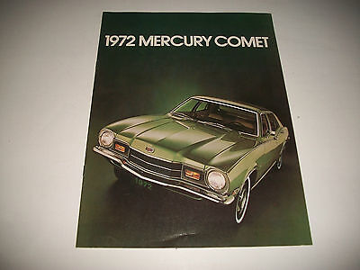 1972 Mercury Comet Sales Brochure Catalog Canadian Market Issue Clean