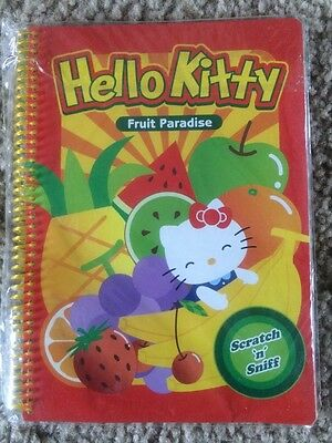 Sanrio Hello Kitty 50 Sheet SCRATCH 'N' SNIFF Spiral Notebook New Apple  Scent