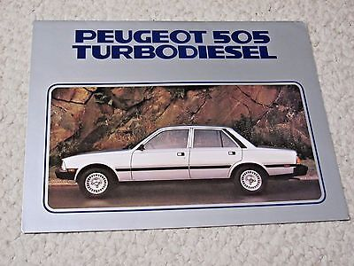1981 Peugeot 505 Turbodiesel (Usa) Sales Brochure..
