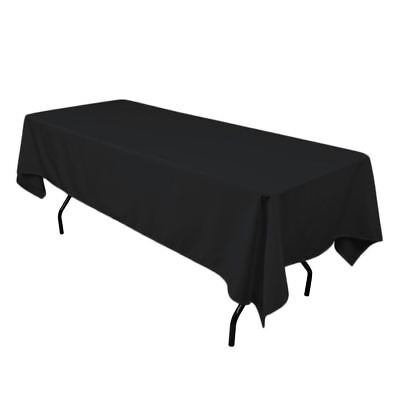"50 pack 60""×126"" Seamless 100% Polyester Tablecloths 25 COLORS Wholesale Wedding"