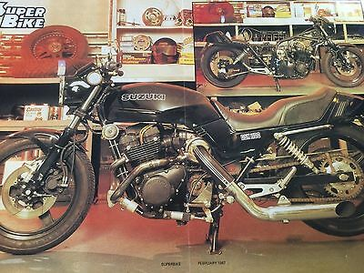 Suzuki Gsx1100 Turbo Special - 1 Page 1987 Motorcycle Article + A3 Centrefold