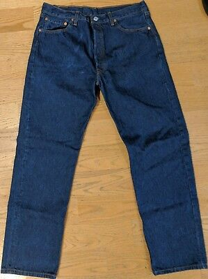 """Made in USA Levi's 501 38 W 32L (measures 36"""" x 31 3/4"""") Dark"""