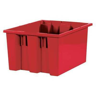 "Stack & Nest Containers, 17"" x 14 1/2"" x 9 7/8"", Red, PK6 PARTNERS BRAND BINS114"