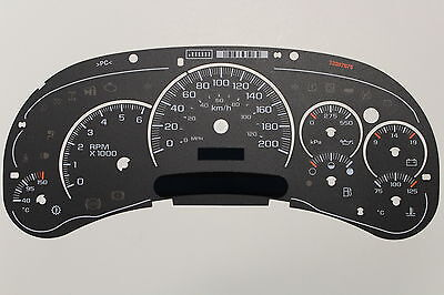 Km/h 03-05 Factory Oem 2500 Gas Truck Cluster Kilometer Km Gauge Face Inlay Only