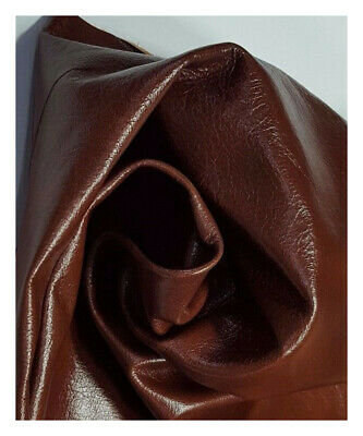 Leather Cowhide Antique Chestnut Brown Upholstery Avg 15 Sq ft TS-1676