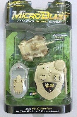 MGA Microblast Racers RC 49MHZ Military Vehicle Tundra MBR Tank Toy 2003