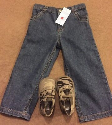 Tex Baby Jeans 23 Months BNWT In Blue & Complementary Mamas&papas Shoes 12-18 M