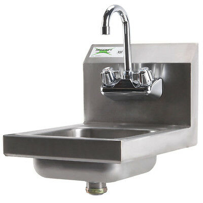 "New Regency Commercial Faucet NSF Steel Hand Washing Sink Stainless 12"" x 16"""