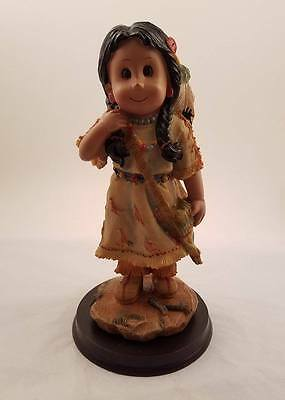 Native American Child Statue - Little Indian Girl Figurine