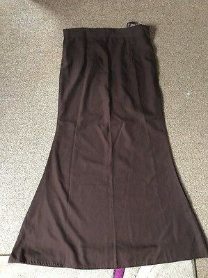 Ladies BrowIndian Petticoat Fishtail Style ,brand New