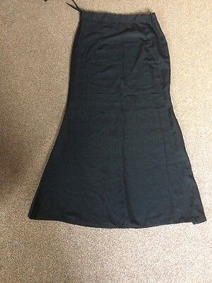 Ladies Black Indian  Petticoat Fishtail Style ,brand New