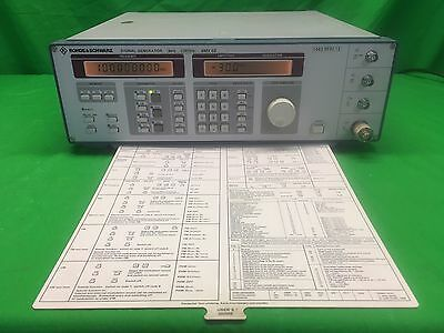 Rohde & Schwarz SMY02  9kHz-2.8MGHz Signal Generator w/ Front & Back Cover 02