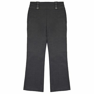 Girls Grey Adams School Trousers Uniform Clothes Age 3-10 Years