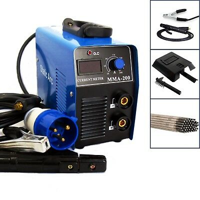 Mma 200A Igbt Inverter Dc Arc Stick Welder Portable Welding Machine + Electrodes