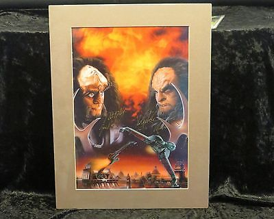 """Deep Space Nine """"Testament By Fire"""" Signed Lithograph"""