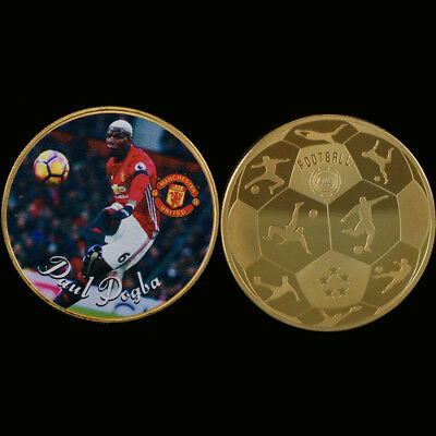 WR Manchester United FC-Paul Pogba Football Gold Challenge Coin Cellectable Gift