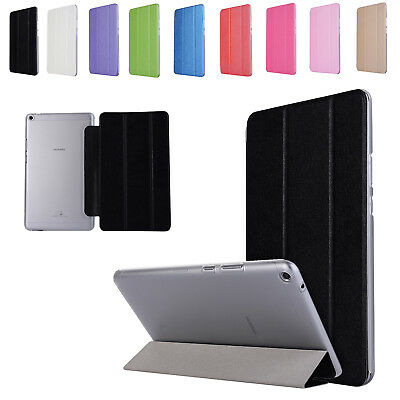Ultra Slim Silk Leather Stand Flip Case Cover For Various Huawei MediaPad Tablet