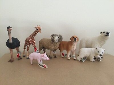 NWT • Schleich Animal Lot Of 7 • New • Figurines