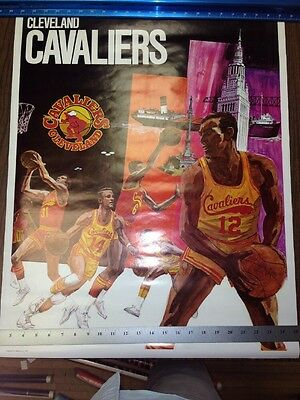 Vintage Rare 1970 Cleveland Cavaliers Poster Promotional Inc USA Printed Rare!