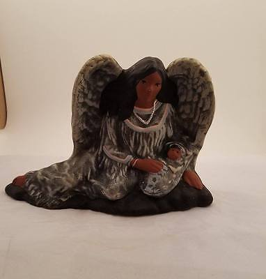 Hand Painted Ceramic Native American Angel Woman and Baby Statue Figurine