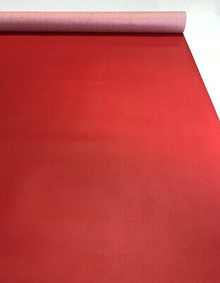 """Faux Leather Classic Red Vinyl Fabric Car Upholstery Pleather 54"""" W By The Yard"""